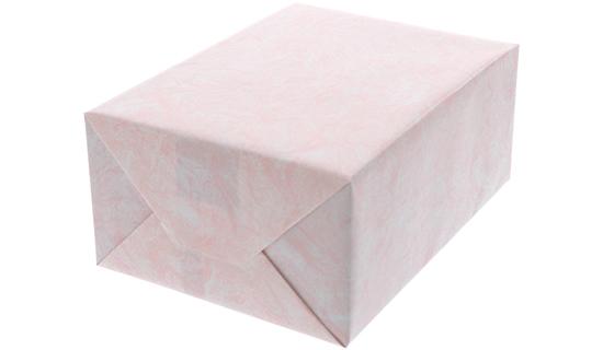 雲竜ピンク柄の包装紙でキャラメル包装した箱の画像