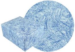 雲竜ブルー柄の包装紙と包装した箱の画像