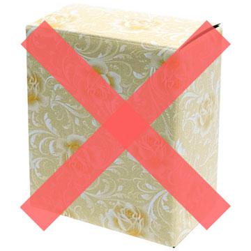 包装箱に×のついた画像